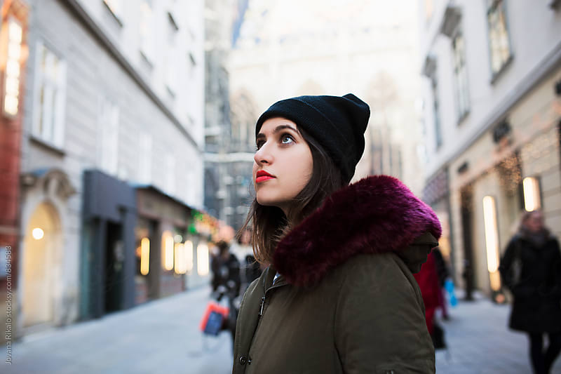 Portrait of a woman exploring the city by Jovana Rikalo for Stocksy United
