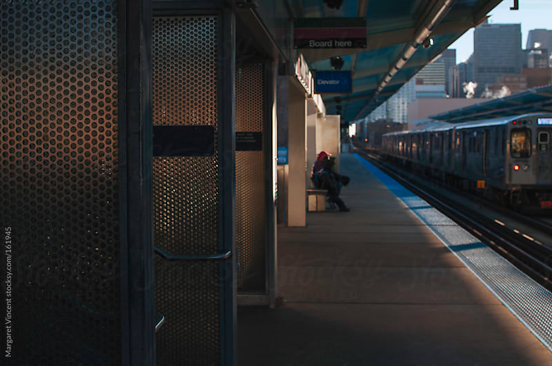 train station in the morning by Margaret Vincent for Stocksy United