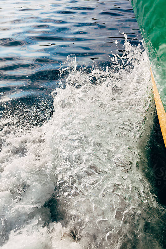 Wave Created by a Boat by HEX. for Stocksy United