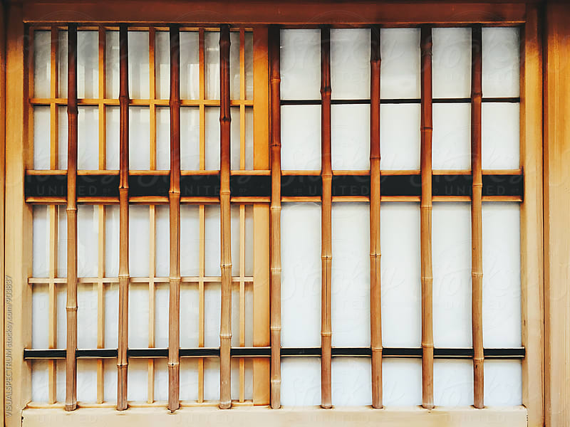 Close Up of Japanese Bamboo Window by Julien L. Balmer for Stocksy United