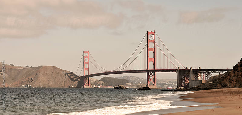 Baker beach in San Francisco by juan moyano for Stocksy United