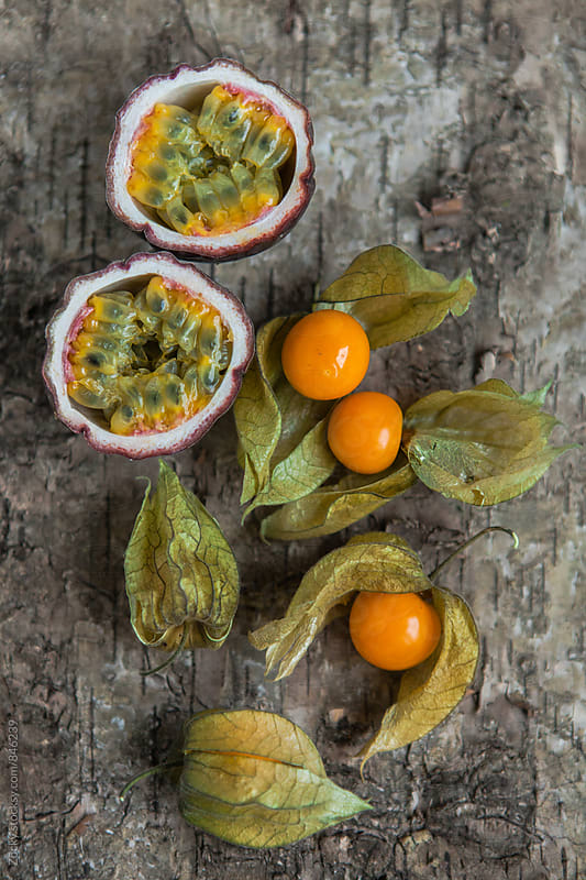 Physalis and passion fruit by Zocky for Stocksy United