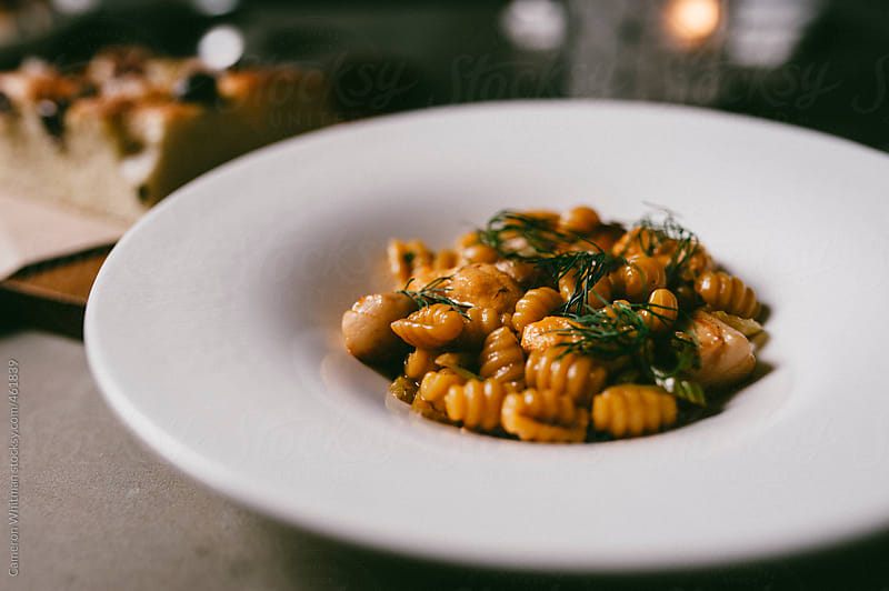 Seafood Gnocci with Thyme by Cameron Whitman for Stocksy United