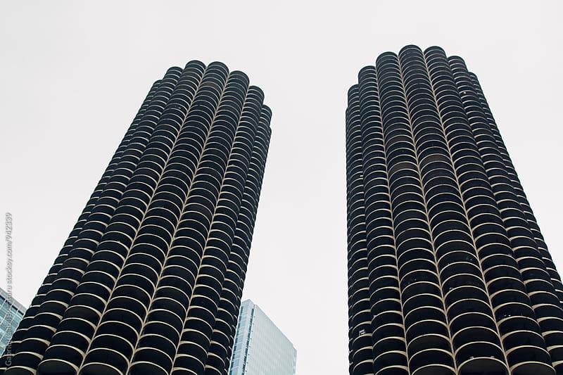 Marina towers in Chicago by Gabriel (Gabi) Bucataru for Stocksy United