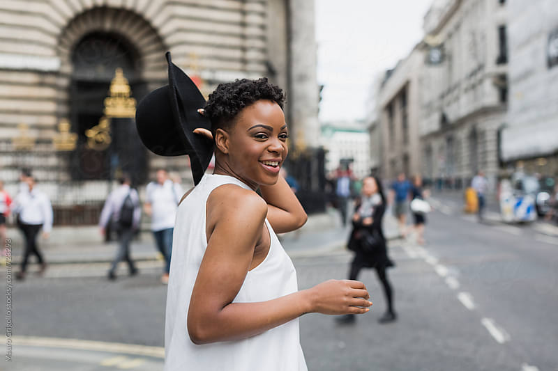 Portrait of a beautiful black woman by Mauro Grigollo for Stocksy United