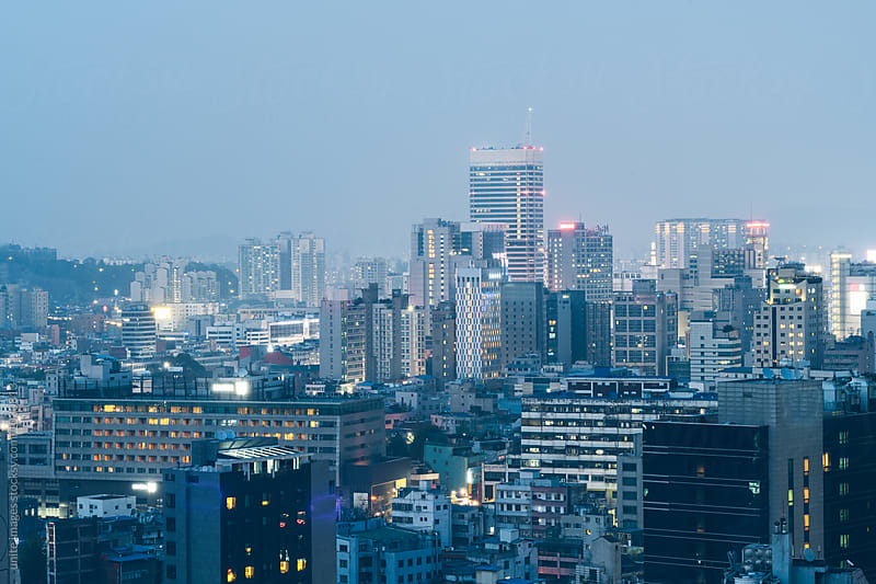 downtown district of seoul,south korea by yuanyuan xie for Stocksy United
