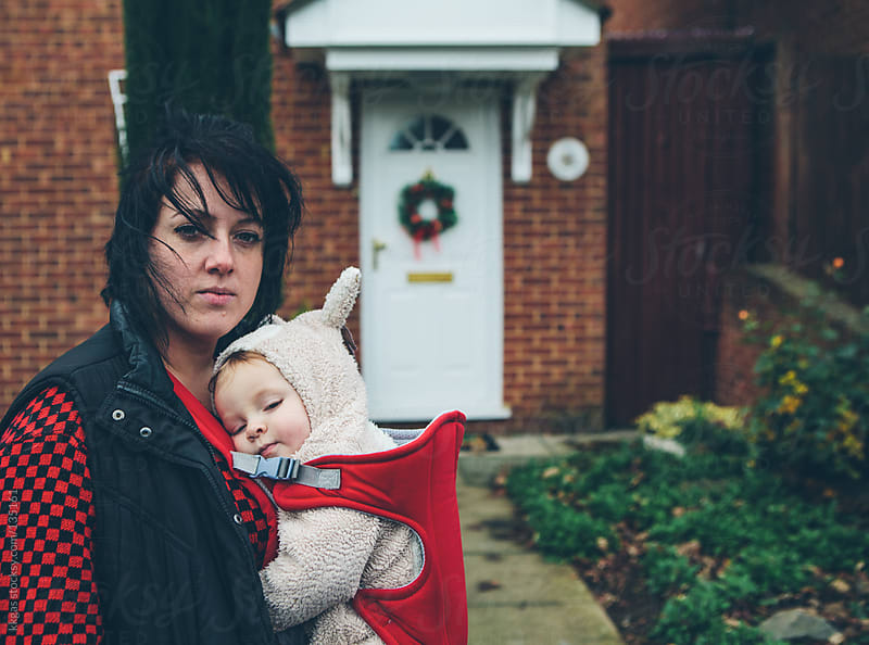 Suburban mother and child by kkgas for Stocksy United
