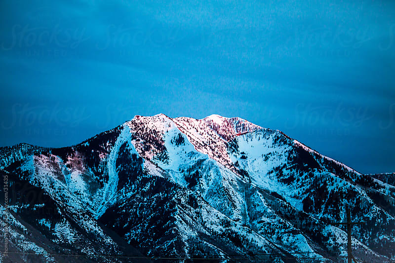 Utah Mountains with snow by Thomas Hawk for Stocksy United