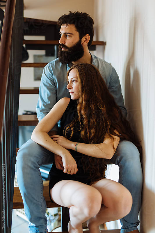 Beautiful Couple at home by Good Vibrations Images for Stocksy United