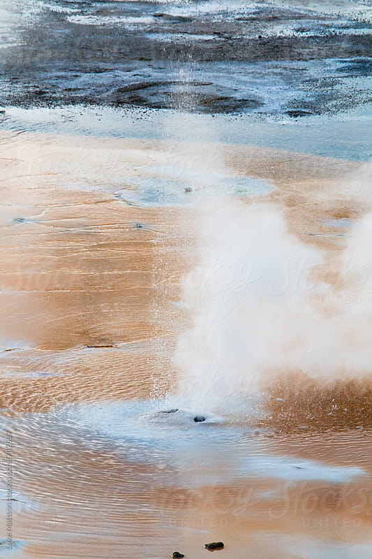 Natural Geyser Spewing Hot Water At Norris Geyser Basin In Yellowstone National Park by Luke Mattson for Stocksy United