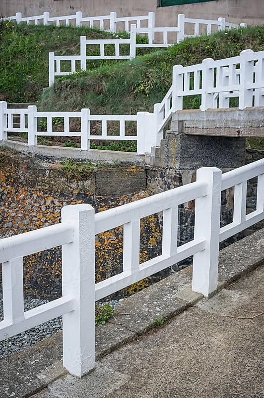 Promenade and white railing  by Simone Becchetti for Stocksy United