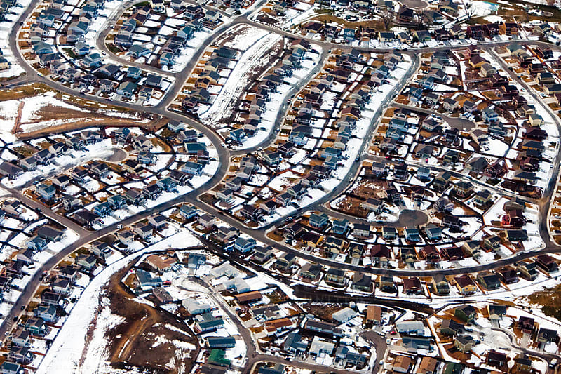 Housing Overhead with Snow by Thomas Hawk for Stocksy United