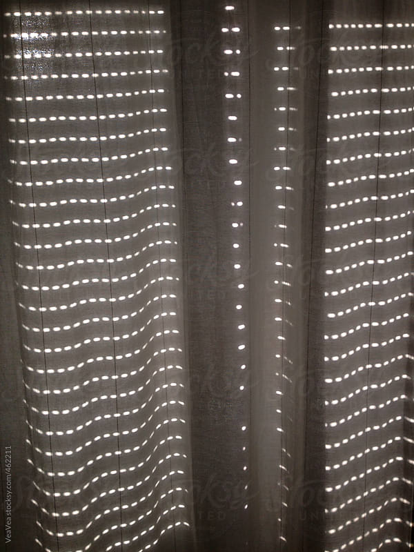 Shadow on a white curtain during the day light by VeaVea for Stocksy United