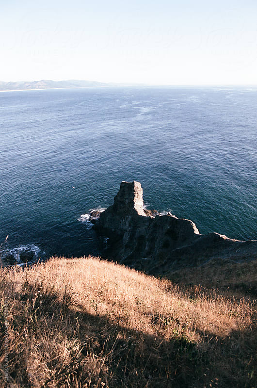 Overlooking the Pacific Ocean from the Top of a Cliff by Chase Castor for Stocksy United