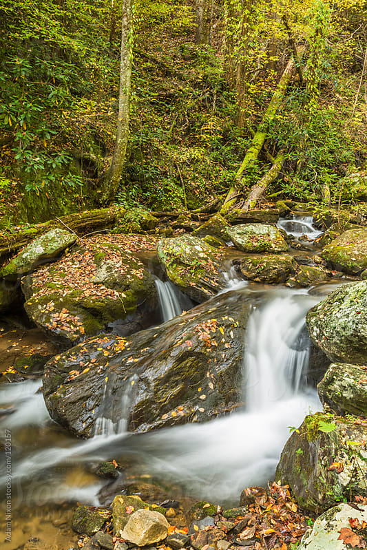 Small Water Fall in Autumn by Adam Nixon for Stocksy United