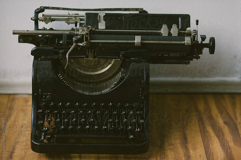 Retro cyrillic typewriter by B & J for Stocksy United