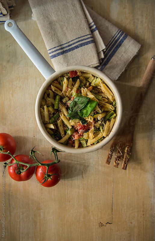 Healthy pasta by Marta Muñoz-Calero Calderon for Stocksy United