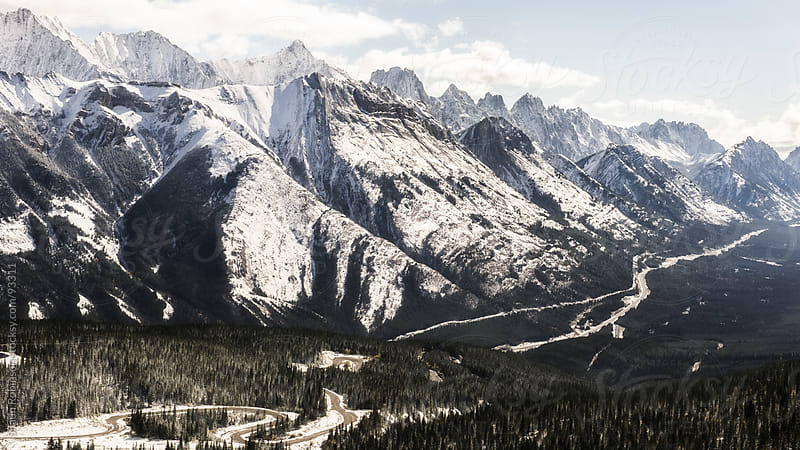 Mountain Range in the Canadian Rockies by Shaun Robinson for Stocksy United