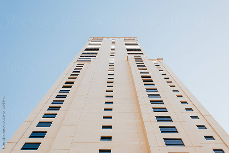 Residential Building in Dubai Shot From Below by Nemanja Glumac for Stocksy United