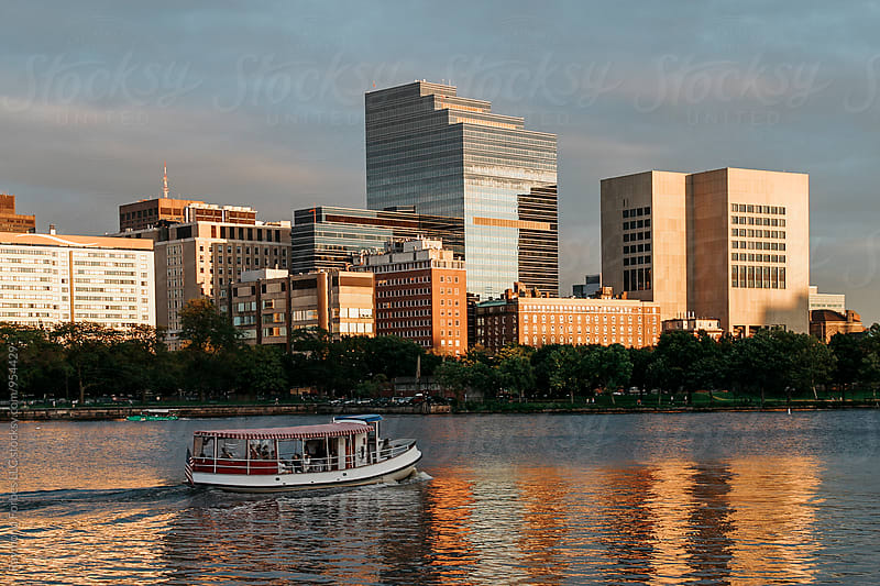 Boston Skyline at Charles River by Raymond Forbes LLC for Stocksy United