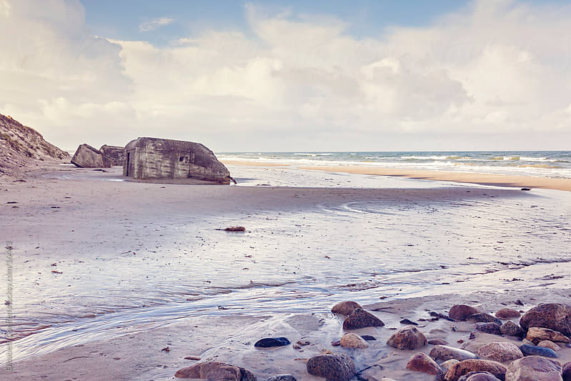 Beach in Hirtshals, Denmark, North Jutland by Elisabeth Coelfen for Stocksy United