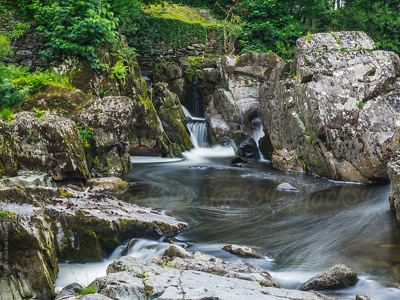 Snowdonia waterfalls by Milena Milani for Stocksy United