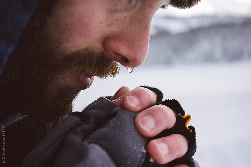 Man in the cold during winter by GIC for Stocksy United