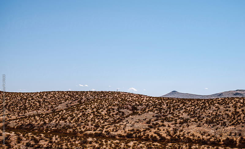 The rolling hills of a desert landscape by Joseph West Photography for Stocksy United