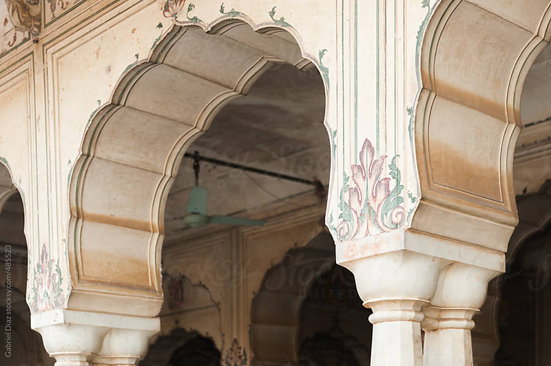 Old arc in palace of the Amber Fort near Jaipur, Rajasthan, India by Gabriel Diaz for Stocksy United