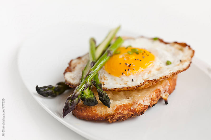 Egg, Cheese and Asparagus Crostini by Jill Chen for Stocksy United