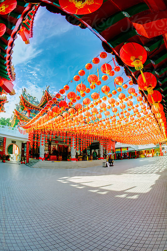 Thean Hou Chinese Temple, Kuala Lumpur, Malaysia, Southeast Asia, Asia by Gavin Hellier for Stocksy United