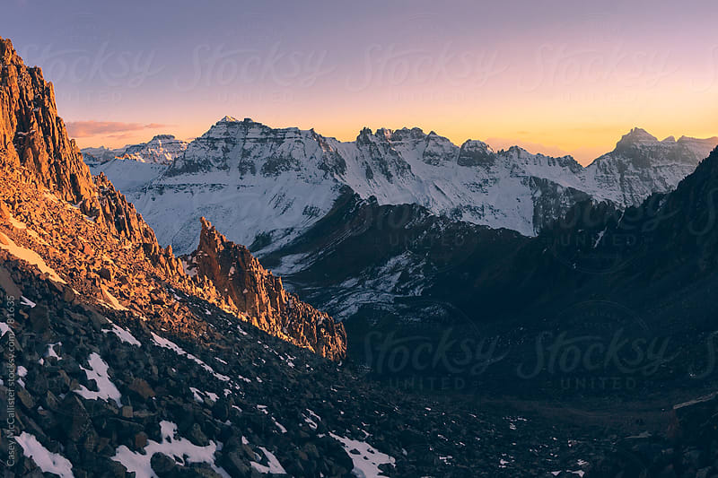 Mountain Alpenglow by Casey McCallister for Stocksy United