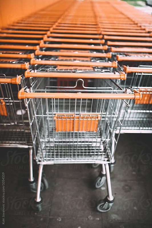 shopping carts by Koki Jovanovic for Stocksy United