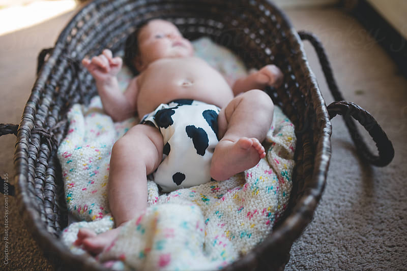 Cloth Diapered Summer Baby by Courtney Rust for Stocksy United