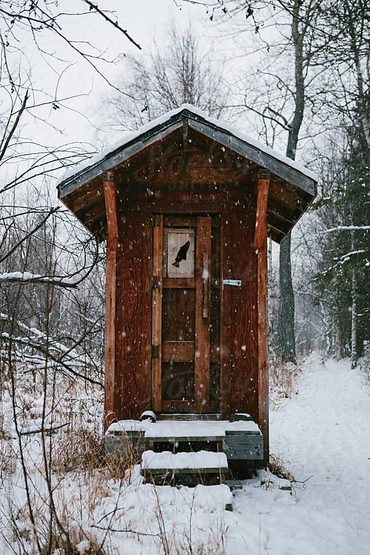 Outhouse in the Snow by Kristian Lynae Irey for Stocksy United