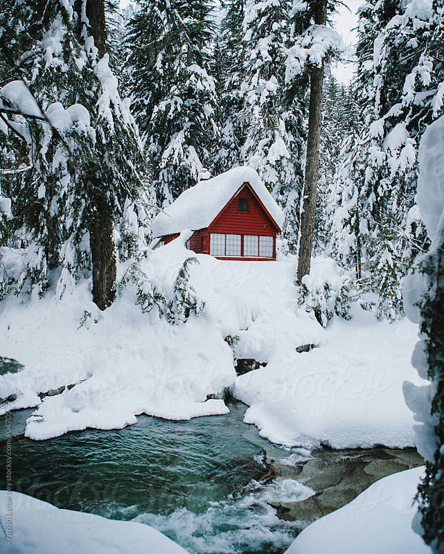 Red Cabin by Kristian Lynae Irey for Stocksy United