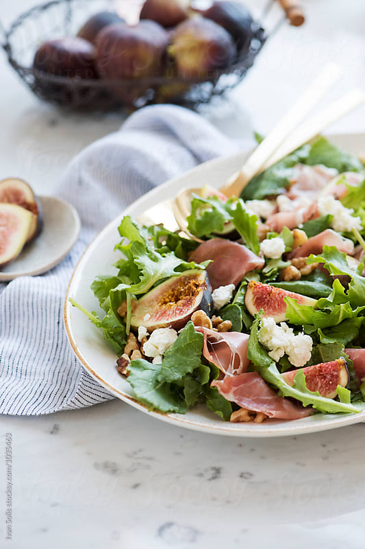 Fig and prosciutto salad by Ivan Solis for Stocksy United
