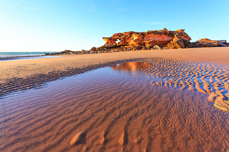 Rock formations on the coast. Broome. Western Australia. by John White for Stocksy United