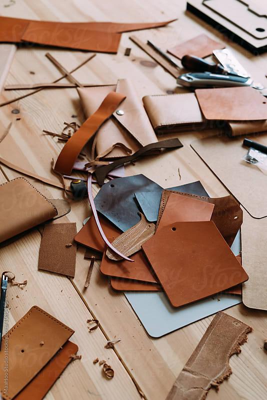 Too for handmade bag in leather Studio by MaaHoo Studio for Stocksy United