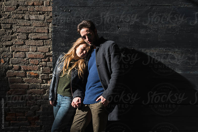 Couple portrait in the city by GIC for Stocksy United