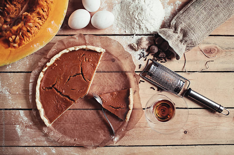 Pumpkin tart by Ani Dimi for Stocksy United