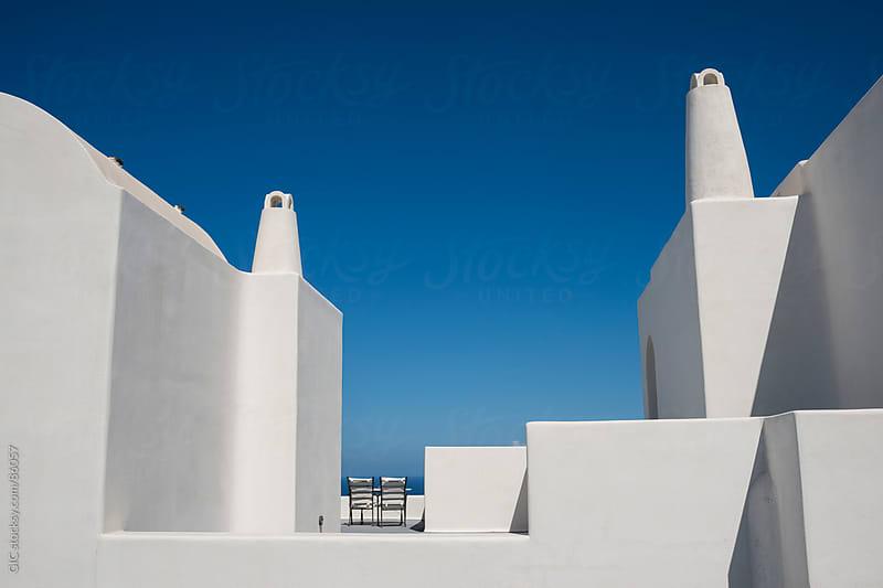 White villa in Santorini by GIC for Stocksy United