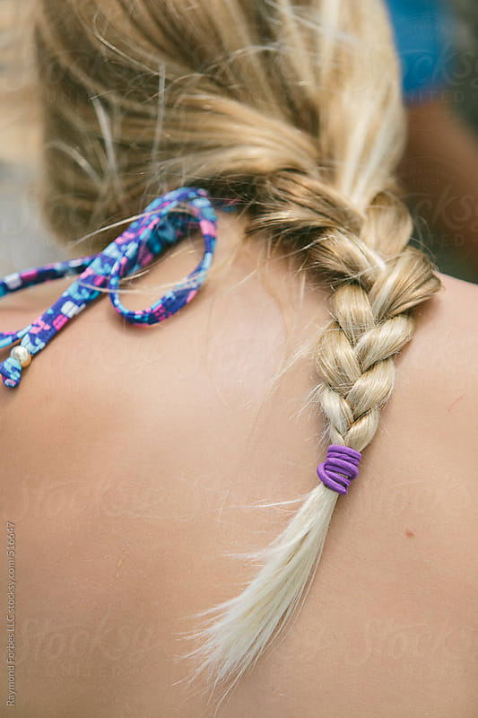 Hair Braid on Young Girl by Raymond Forbes LLC for Stocksy United