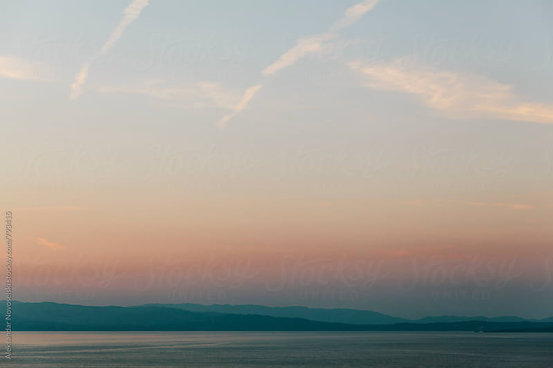 Minimalist landscape in Greece, by dusk by Aleksandar Novoselski for Stocksy United