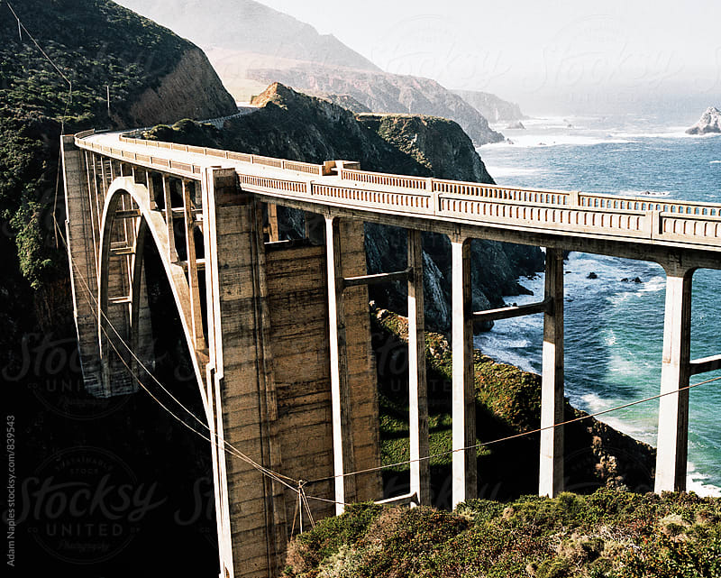Bixby Bridge - Big Sur, California.  by Adam Naples for Stocksy United