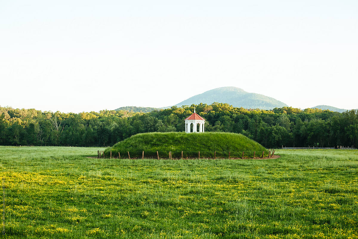Stock Photo - Sacred Indian Burial Mound