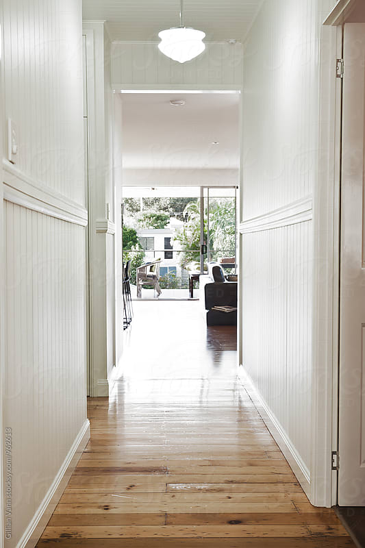 hallway in a Queenslander style home by Gillian Vann for Stocksy United