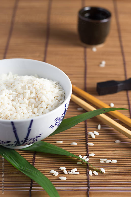 Bowl of rice  by Milena Milani for Stocksy United