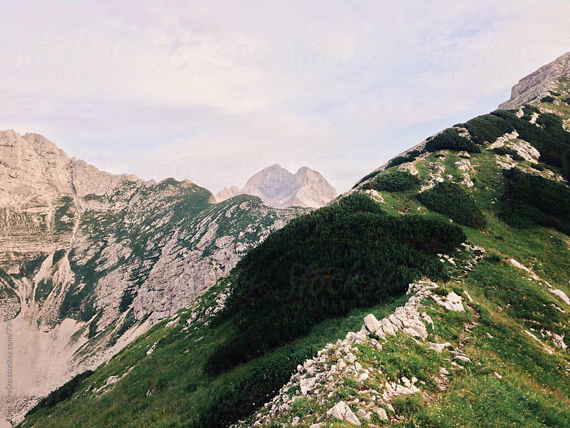 Triglav in the morning by Bor Cvetko for Stocksy United