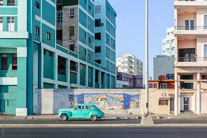 Street scene from le Malecon in Havana, Cuba. by Amanda Large for Stocksy United